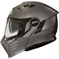 Simpson Darksome Flip Front Motorcycle Helmet (Gunmetal Grey)