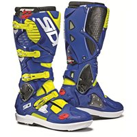 Sidi Crossfire 3 SRS Motocross Boots (Fluo Yellow|Blue)