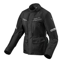 Revit Ladies Motorcycle Jacket Outback 3 (Black/Silver)
