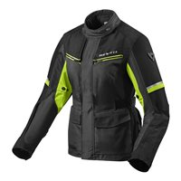 Revit Ladies Motorcycle Jacket Outback 3 (Black/Neon Yellow)
