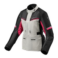 Revit Ladies Motorcycle Jacket Outback 3 (Silver/Fuchsia)