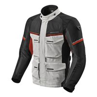 Revit Motorcycle Jacket Outback 3 (Silver/Red)