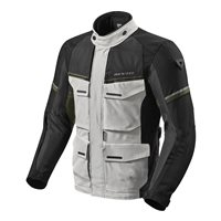 Revit Motorcycle Jacket Outback 3 (Silver/Green)