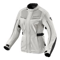 Revit Voltiac 2 Ladies Motorcycle Jacket (Silver/Black)