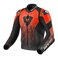 Revit Leather Jacket Quantum Air (Black/Neon Red)