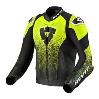 Revit Leather Jacket Quantum Air (Black/Neon Yellow)
