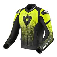 Revit Leather Jacket Quantum (Black/Neon Yellow)