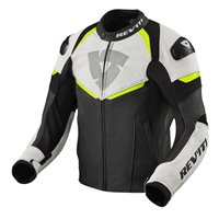 Revit Leather Jacket Convex (Black/Neon Yellow)