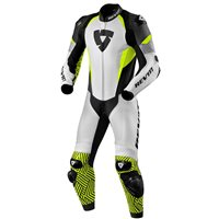 Revit One Piece Leathers Triton (White/Neon Yellow)