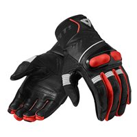 Revit Hyperion Motorcycle Gloves (Black|Neon Red)