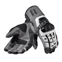 Revit Cayenne Pro Leather Motorcycle Gloves (Silver|Black)