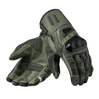 Revit Cayenne Pro Leather Motorcycle Gloves (Green|Black)