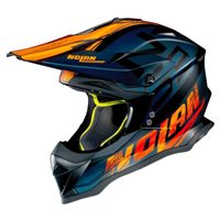 Nolan N53 Whoop MX Helmet (Flat Black|Orange)