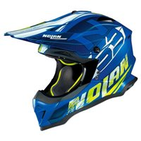 Nolan N53 Whoop MX Helmet (Flat Denim Blue)