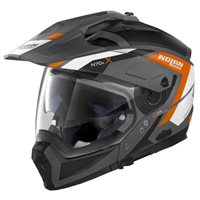 Nolan N70-2X Grandes Alpes N-Com Helmet (Lava Grey|Orange)