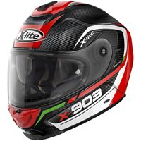 X-Lite X-903 Ultra Carbon Cavalcade Helmet (Carbon|Red)