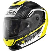 X-Lite X-903 Ultra Carbon Cavalcade Helmet (Carbon|Yellow)