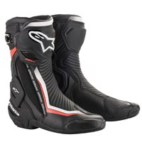 Alpinestars SMX Plus V2 Motorcycle Boot (Black|White|Red)