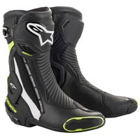 Alpinestars SMX Plus V2 Motorcycle Boot (Black|White|Yellow)