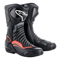 Alpinestars SMX-6 v2 Motorcycle Boot (Black|Grey|Fluo Red)