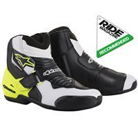 Alpinestars SMX-1R Motorcycle Boot (Black|White|Yellow)