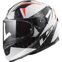 LS2 FF320 Stream Evo Commander Helmet (White|Black|Red)