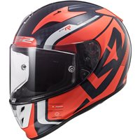 LS2 FF323 Arrow C Evo Sting Carbon Helmet (Blue|Fluo Orange)