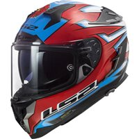 LS2 FF327 Challenger Foggy WSB Helmet (White|Blue|Red)