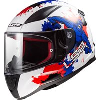 LS2 FF353 J Rapid Mini Monster Helmet (White|Blue)