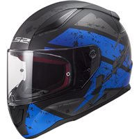 LS2 FF353 Rapid Deadbolt Helmet (Matt Black|Blue)