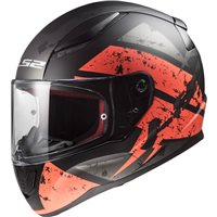 LS2 FF353 Rapid Deadbolt Helmet (Matt Black|Orange)