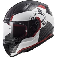 LS2 FF353 Rapid Ghost Helmet (White|Black|Red)