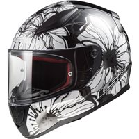 LS2 FF353 Rapid Poppies Helmet (Black|White)