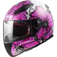 LS2 FF353 Rapid Poppies Helmet (Pink)