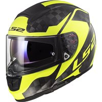 LS2 FF397 Vector Evo Shine Helmet (Carbon Hi-Vis Yellow)