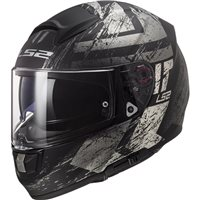 LS2 FF397 Vector Evo Hunter Helmet (Matt Black|Titanium)