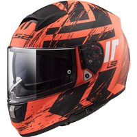 LS2 FF397 Vector Evo Hunter Helmet (Matt Fluo Orange|Black)