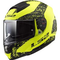LS2 FF397 Vector Evo Sign Helmet (Matt Hi-Vis Yellow|Black)