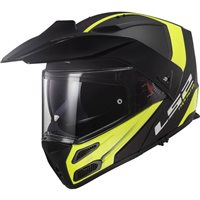 LS2 FF324 Metro Evo Rapid Helmet (Matt Black|Hi-Vis Yellow)