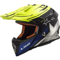 LS2 MX437 Fast Core Helmet (Matt Black|Hi-Vis Yellow)