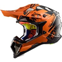 LS2 MX470 Subverter Emperor Helmet (Black|Orange)