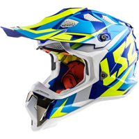 LS2 MX470 Subverter Nimble Helmet (White|Blue|Hi-Vis Yellow)