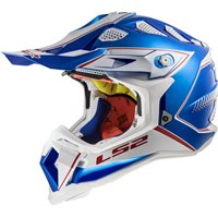 LS2 MX470 Subverter Power Helmet (Chrome Blue)