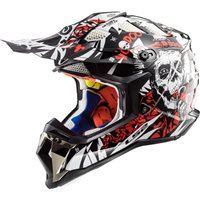 LS2 MX470 Subverter Voodoo Helmet (Black|White|Red)