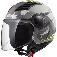 LS2 OF562 Airflow Camo Helmet (Matt Titanium|Yellow)