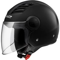LS2 OF562 Airflow Open Face Helmet (Black)