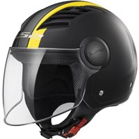 LS2 OF562 Airflow Metropolis Helmet (Matt Black|Hi-Vis Yellow)