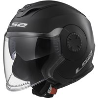 LS2 OF570 Verso Open Face Helmet (Matt Black)