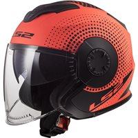 LS2 OF570 Verso Spin Helmet (Matt Fluo Orange)