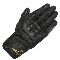 Alpinestars Stella Baika Leather Motorcycle Glove (Black|Gold)